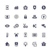 casa inteligente, conjunto de ícones do sistema de automação residencial, vector.eps vetor