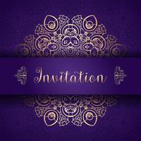 Fundo decorativo convite