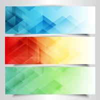 Banners modernos com design abstrato