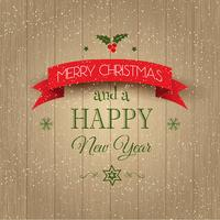 Fundo decorativo de Natal e Ano Novo vetor