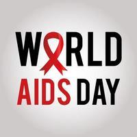 letras do dia mundial da aids com uma fita em um fundo branco