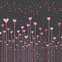 Fundo de corações vetor