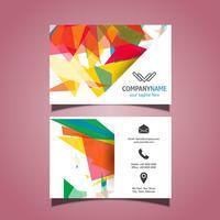 Design de cartão abstrato vetor