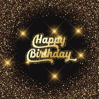 Fundo de glitter feliz aniversário vetor