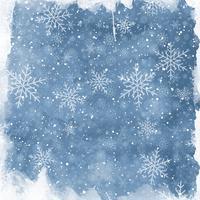 Fundo de floco de neve em aquarela vetor