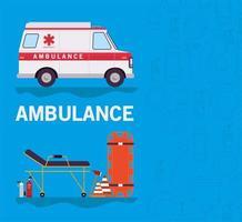 banner de emergência de ambulância vetor