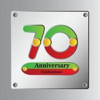 Ilustração de design de modelo vetorial de aniversário de 70 anos vetor