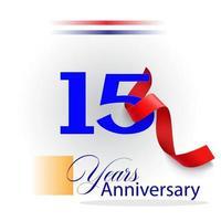 Ilustração de design de modelo vetorial celebração de aniversário de 15 anos vetor
