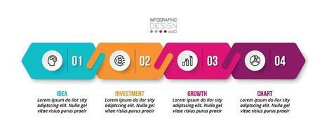 design de modelo de infográfico de negócios ou marketing. vetor