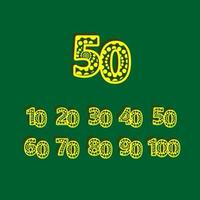50 º aniversário de comemoração bolha número amarelo ilustração de design de modelo vetorial