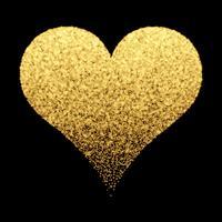 Fundo de coração de ouro sparkle vetor