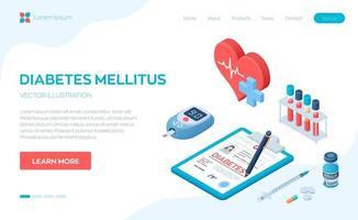 diagnóstico médico - diabetes. diabetes mellitus tipo 2 e conceito de produção de insulina. medidor de glicose no sangue, pílulas, seringa e frasco de insulina.