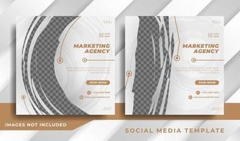 modelo de banner de mídia social corporativa para promoção de negócios vetor