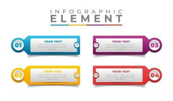 infográfico colorido etapas design plano vetor