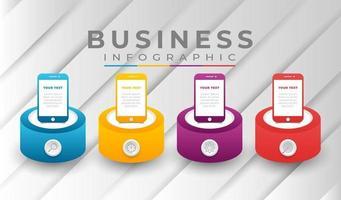 infográfico modelo de negócios com cores gradientes vetor