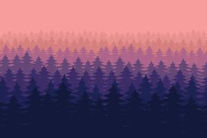 ilustração do projeto do vetor do fundo da paisagem da floresta