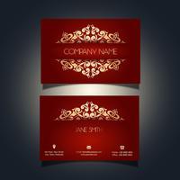 Cartão de visita de luxo vetor