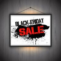 Fundo preto da observação da venda de sexta-feira vetor