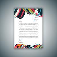 Design de papel timbrado de negócios vetor
