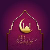 Eid mubarak fundo com tipo decorativo vetor