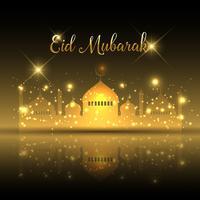 Eid mubarak fundo vetor