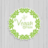 Design de menu vegan vetor
