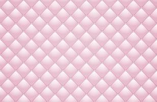 ilustração vetorial de parede de textura de estofamento de couro rosa vetor