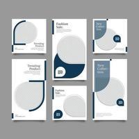 modelo de postagens modernas minimalistas vetor