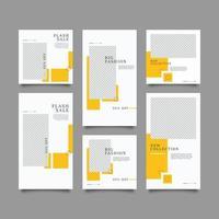 modelo de kit de pacote de venda de flash de mídia social vetor