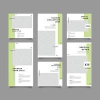 conjunto de modelos de postagens de auto-exercício vetor