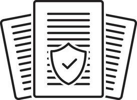 ícone de linha para auditoria de seguros vetor