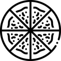 ícone de linha para pizza vetor