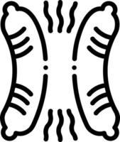 ícone de linha para salsicha vetor