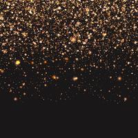 Fundo de confetes de ouro vetor