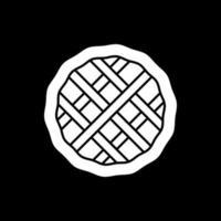 ícone de glifo de modo escuro de torta caseira vetor