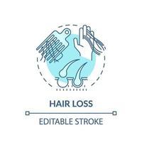 ícone do conceito de queda de cabelo