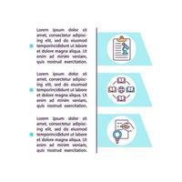 ícone de conceito de fontes de pesquisa secundária com texto vetor