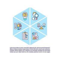 ícone do conceito de pesquisa científica com texto vetor