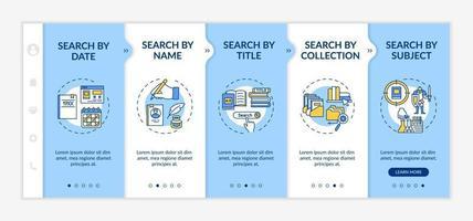 modelo de vetor de integração de tipos de pesquisa de biblioteca online