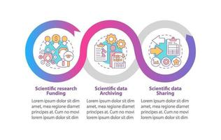 pesquisa de modelo de infográfico de vetor de ciência