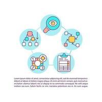 ícone do conceito de análise e síntese com texto vetor