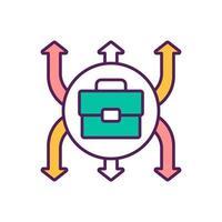 ícone de cor de expansão de negócios