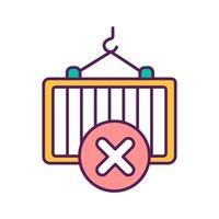 ícone de cor de entrada fechada vetor