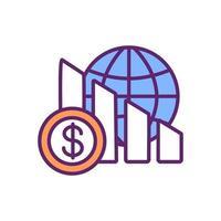 ícone de cor de deflação vetor