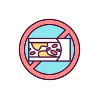 ícone de cor de redução do nível de colesterol alto vetor