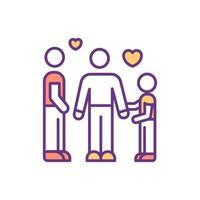 ícone de família de cor forte vetor
