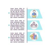 ícone do conceito de suporte farmacêutico com texto vetor