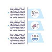 faixa etária para ícone do conceito de medicação cobiçosa com texto vetor