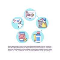 ícone de conceito de pedido de farmácia on-line com texto vetor