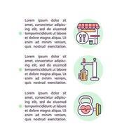 ícone de conceito de negócios elegíveis com texto vetor
